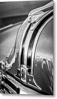 1948 Pontiac Chief Hood Ornament 4 Metal Print by Jill Reger