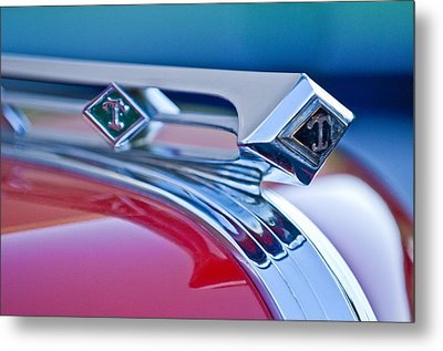 1949 Diamond T Truck Hood Ornament 3 Metal Print by Jill Reger
