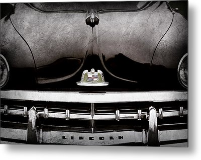 1950 Lincoln Cosmopolitan Henney Limousine Grille Emblem - Hood Ornament -0464ac Metal Print by Jill Reger