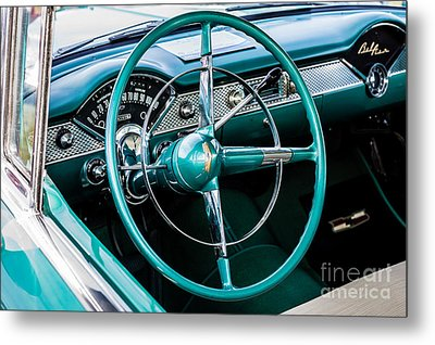 Metal Print featuring the photograph 1955 Chevrolet Bel Air by M G Whittingham
