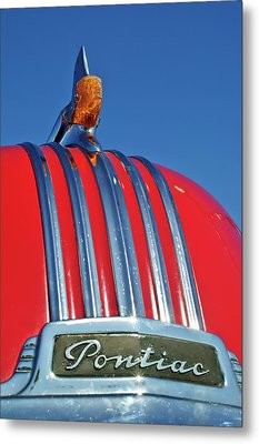1951 Pontiac Chief Hood Ornament 2 Metal Print by Jill Reger