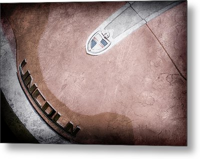 1955 Lincoln Indianapolis Boano Coupe  Emblem -0274ac Metal Print by Jill Reger