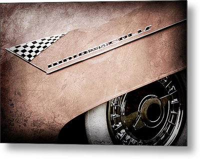 1955 Lincoln Indianapolis Boano Coupe Emblem -0295ac Metal Print by Jill Reger