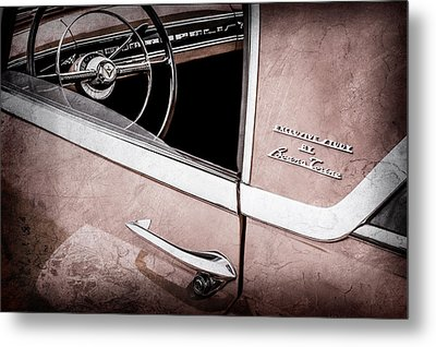 1955 Lincoln Indianapolis Boano Coupe Side Emblem - Steering Wheel -0358ac Metal Print by Jill Reger