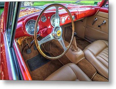 1956 Ferrari 250 Gt Boano Alloy Interior Metal Print by John Adams