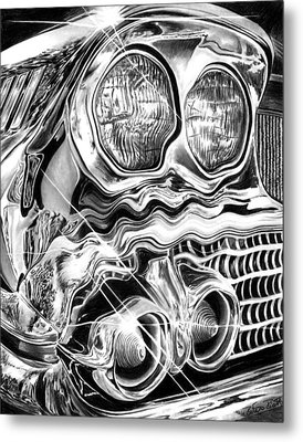 1958 Impala Beauty Within The Beast Metal Print by Peter Piatt