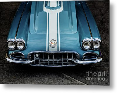 Metal Print featuring the photograph 1960 Corvette by M G Whittingham