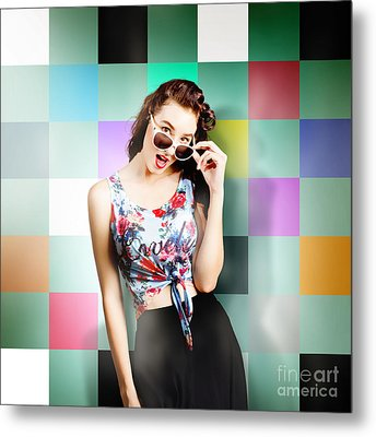 1960s Fashion Wall Pin-up Metal Print by Jorgo Photography - Wall Art Gallery