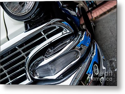 Metal Print featuring the photograph 1958 Ford Crown Victoria Reflection 2 by M G Whittingham