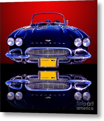1961 Chevy Corvette Metal Print by Jim Carrell