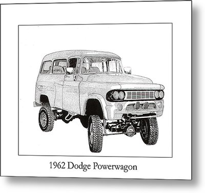 1962 Dodge Powerwagon Metal Print by Jack Pumphrey
