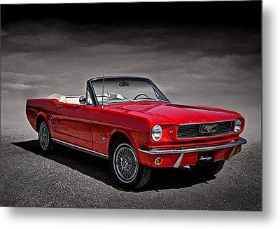 1966 Ford Mustang Convertible Metal Print by Douglas Pittman