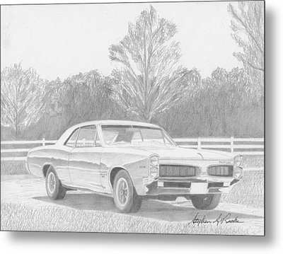 1967 Pontiac Tempest Muscle Car Art Print Metal Print by Stephen Rooks