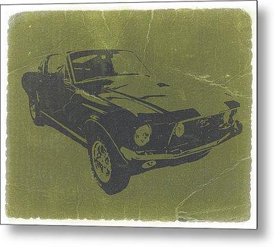1968 Ford Mustang Metal Print by Naxart Studio