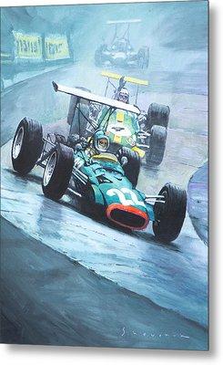 1968 German Gp Nurburgring  Metal Print by Yuriy Shevchuk