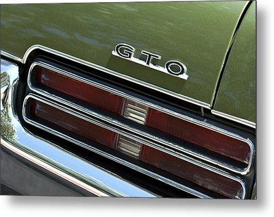 1969 Pontiac Gto Taillight Emblem Metal Print by Jill Reger