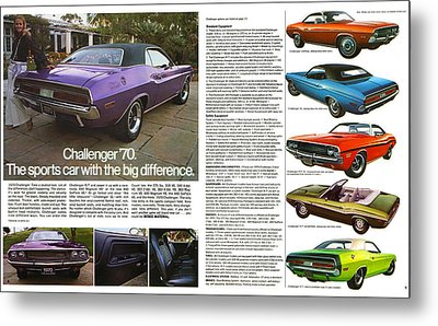 1970 Dodge Challenger Metal Print by Digital Repro Depot