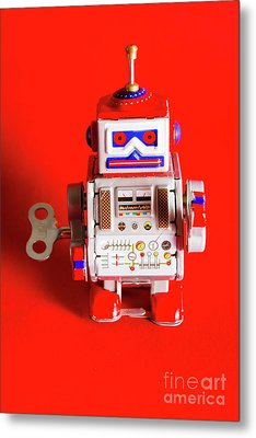 1970s Wind Up Dancing Robot Metal Print by Jorgo Photography - Wall Art Gallery