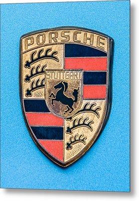 1972 Porsche 911s Emblem - 0584c45 Metal Print by Jill Reger