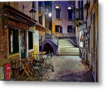 An Evening In Venice Metal Print by Frozen in Time Fine Art Photography