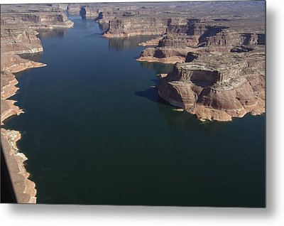 Aerial View Of Lake Powell Metal Print by Carl Purcell