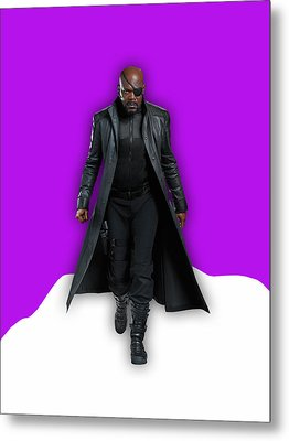 Avengers Nick Fury Collection Metal Print by Marvin Blaine