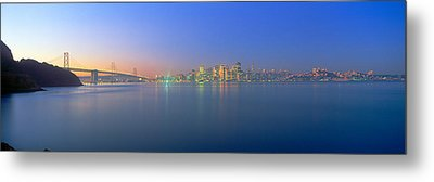 Bay Bridge & San Francisco Metal Print by Panoramic Images