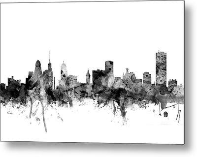 Buffalo New York Skyline Metal Print by Michael Tompsett