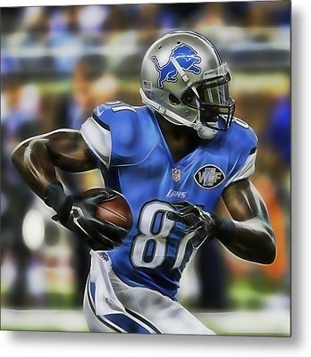 Calvin Johnson Collection Metal Print by Marvin Blaine