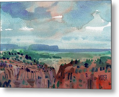 Canyon Overlook Metal Print by Donald Maier