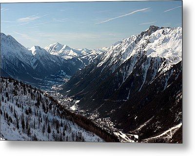 Chamonix Resort In The French Alps Metal Print by Pierre Leclerc Photography