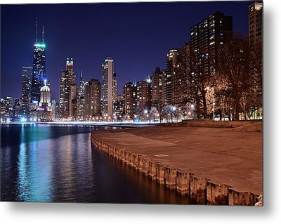Chicago From The North Metal Print by Frozen in Time Fine Art Photography