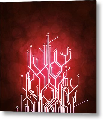 Circuit Board Metal Print by Setsiri Silapasuwanchai