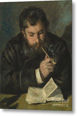 Claude Monet Metal Print by Pierre Auguste Renoir