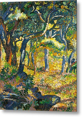 Clearing In Provence  Metal Print by Henri-Edmond Cross