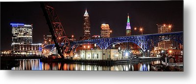 Cleveland Panorama Metal Print by Frozen in Time Fine Art Photography