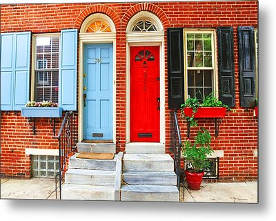 Colonial Doors Metal Print by Andrew Dinh