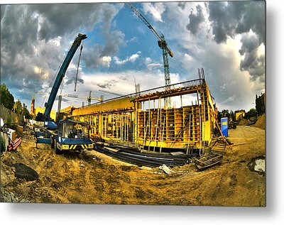 Construction Site Metal Print by Jaroslaw Grudzinski