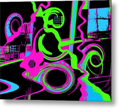 Cosmic Dj Metal Print by Cristophers Dream Artistry
