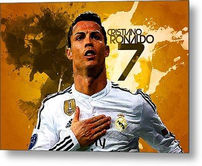 Cristiano Ronaldo Metal Print by Semih Yurdabak