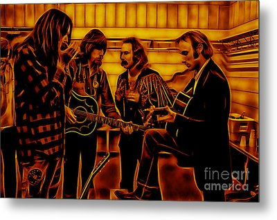 Crosby Stills Nash And Young Metal Print by Marvin Blaine