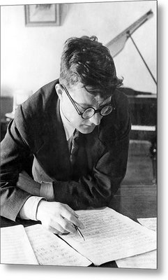 Dimitri Shostakovich,  Russian Composer Metal Print by Everett
