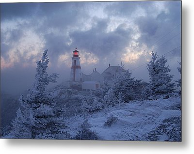 East Quoddy Lighthouse 36 Below Metal Print by Don Dunbar