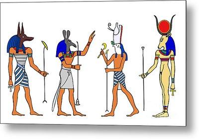 Egyptian Gods And Goddess Metal Print by Michal Boubin