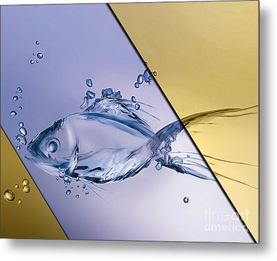 Fish Collection Metal Print by Marvin Blaine
