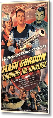 Flash Gordon Conquers The Universe Metal Print by Everett