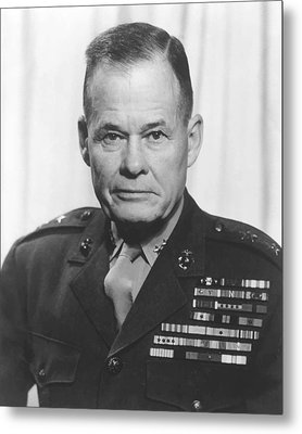 General Lewis Chesty Puller Metal Print by War Is Hell Store