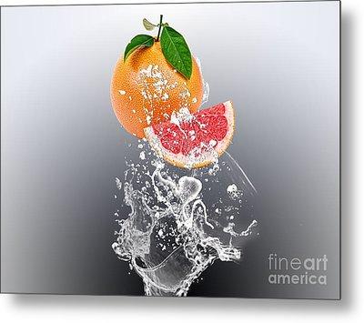 Grapefruit Splash Metal Print by Marvin Blaine