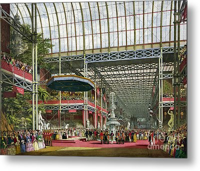 Great Industrial Exhibition Opening Metal Print by Science Source