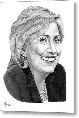 Hillary Clinton Metal Print by Murphy Elliott